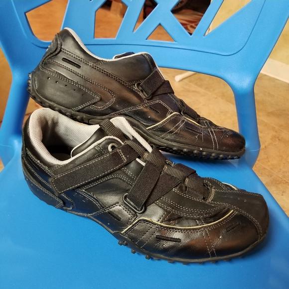 Mens Elastic Lace Velcro Sneakers